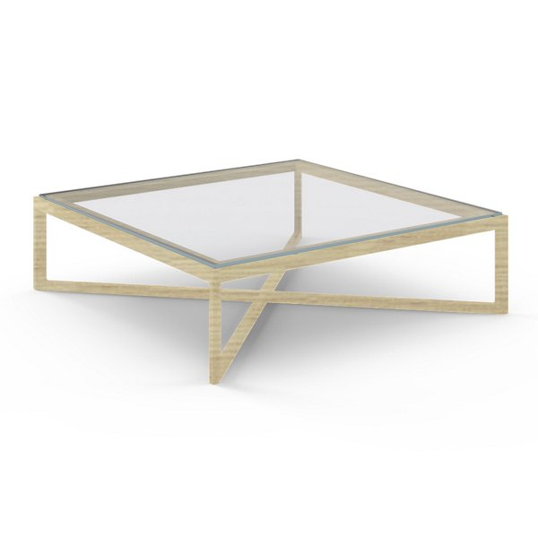 Krusin Square Coffee Table with Glass or Laminate Table Top