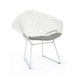 Bertoia Two-Tone Diamond Chair with Seat Cushion