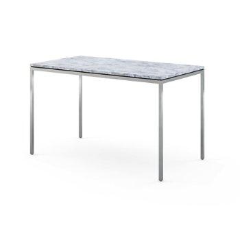Shown in Satin Carrara White-Grey Marble
