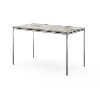Shown in Satin Calacatta White-Grey-Beige Marble