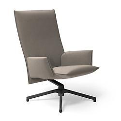 Pilot Swivel High Back Lounge, Upholstered Arms