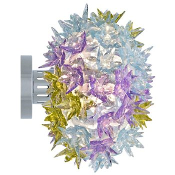 Shown lit in Transparent Lavendar color, Wall application