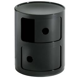 Componibili Round Storage Modules (2 Hi/Black) - OPEN BOX