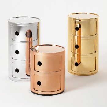 Shown in Chrome, Copper, Gold finish, 2 Hi, 3 Hi size