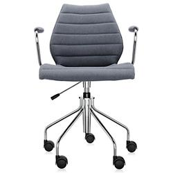 Maui Soft Swivel Armchair Height Adjustable (Grey) -OPEN BOX