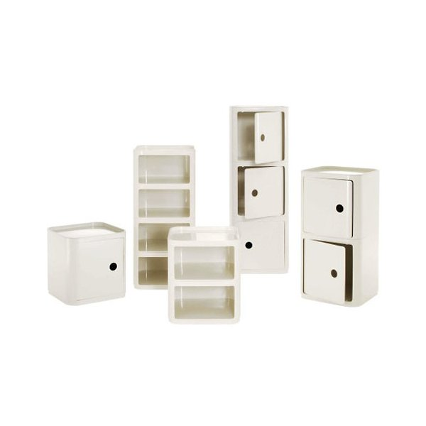 Componibili Square, Modular Standard Stacking Units - No Door