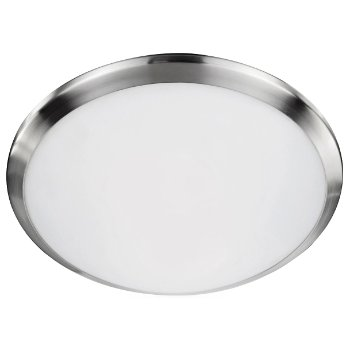 Shown in Brushed Nickel finish, 12 inch size