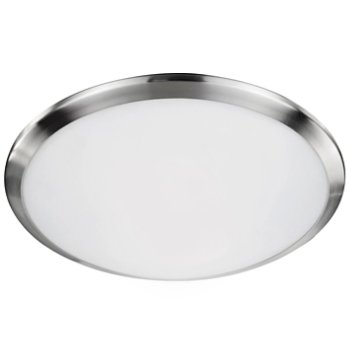 Shown in Brushed Nickel finish, 15 inch size