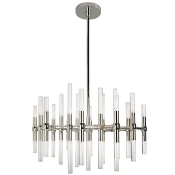 Shown in Polished Nickel finish, 19 Light