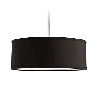 Shown in Brushed Nickel finish with Black Shade color, Large size