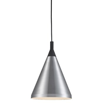 Shown in Brushed Nickel with Black finish, Small Size