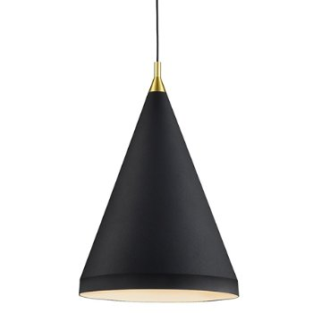Shown in Black with Gold finish, Medium size