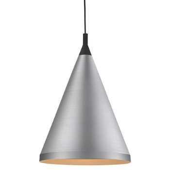 Shown in Brushed Nickel with Black finish, Medium Size