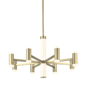Shown in Brushed Brass finish, 8 Light