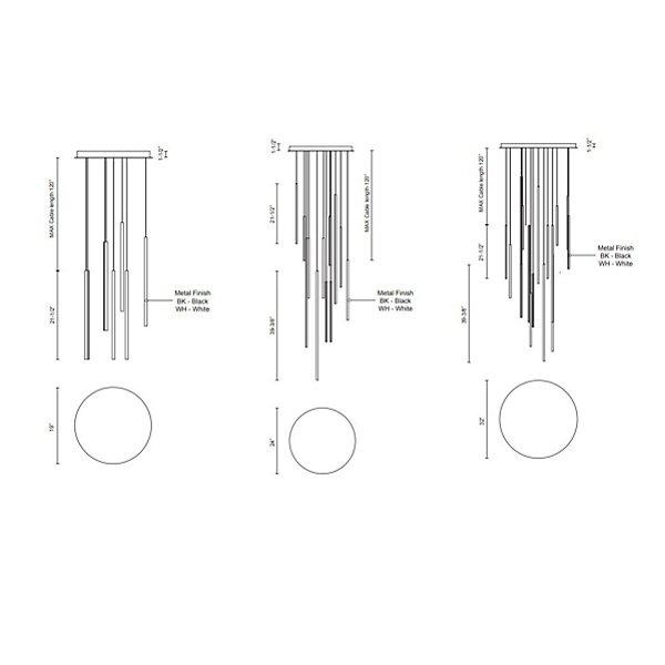 Chute LED Multi-Light Pendant