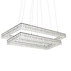 Solaris 2 Tier Rectangular LED Chandelier