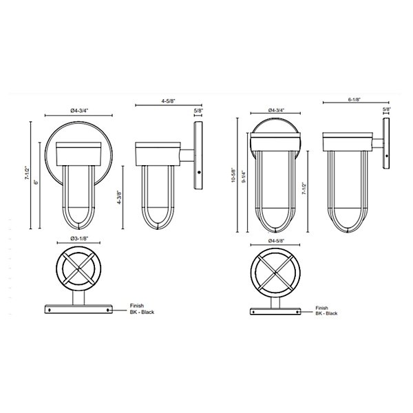 Davy Outdoor LED Wall Sconce