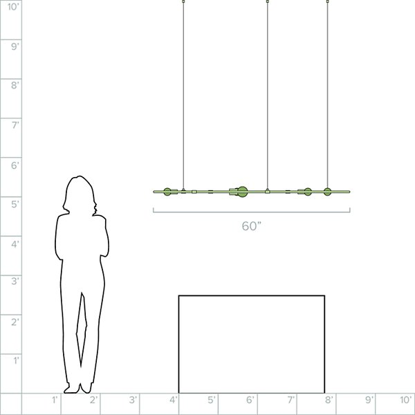 Beaubien Rectangular Linear Suspension