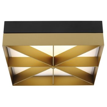 Shown in Satin Gold with Matte Black finish