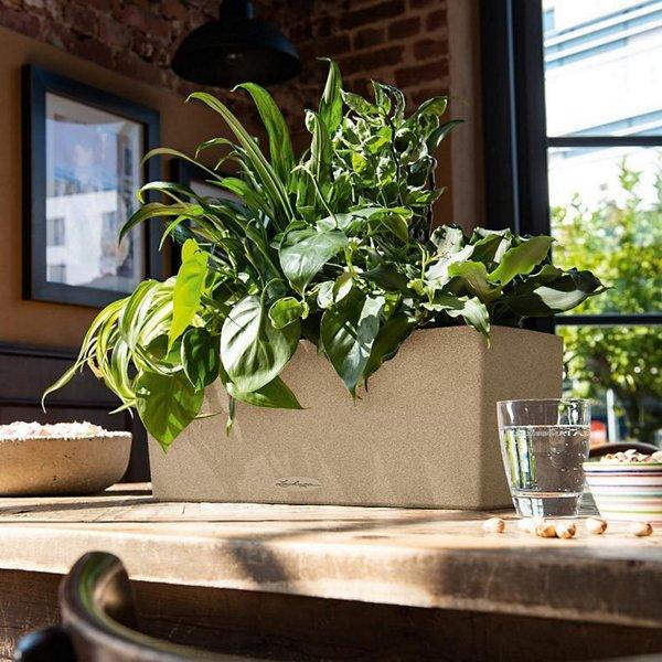 Balconera Stone Self-Watering Window Box Planter