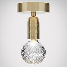 Crystal Bulb LED Semi-Flushmount Light