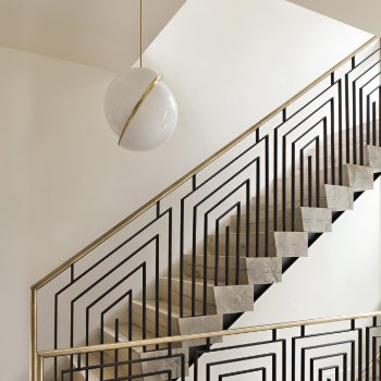 Shown in Brushed Brass finish, in use