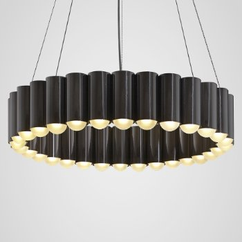 Shown in Polished Gunmetal finish, Small size, lit