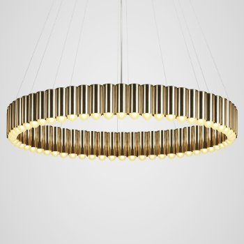 Shown in Polished Brass finish, Large size, lit