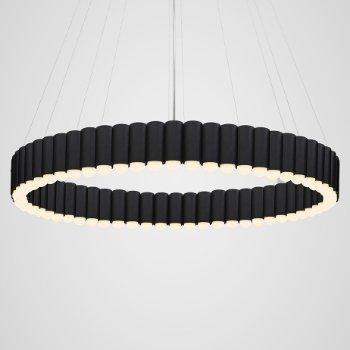 Shown in Matte Black finish, Large size, lit