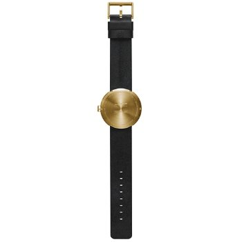Shown in Brass finish, Black Leather strap