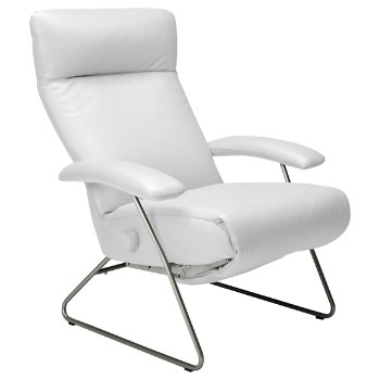 Shown in White leather