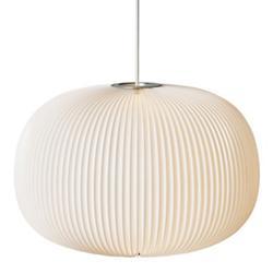 Lamella Globe Pendant (White w/ Aluminum/L)-OPEN BOX RETURN