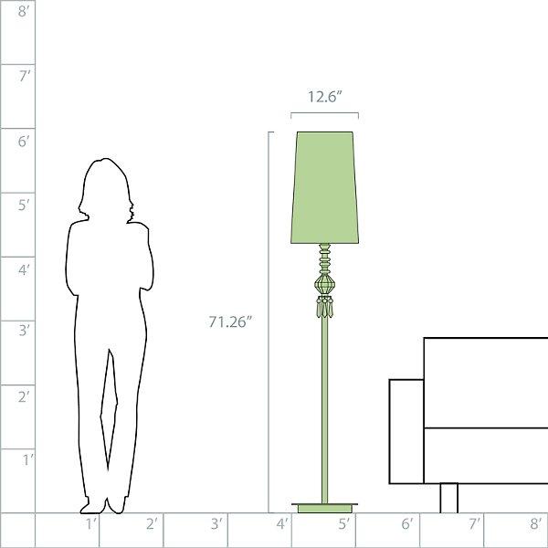 Belle de Nuit I Floor Lamp