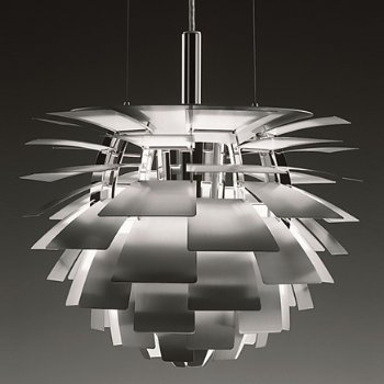 Shown lit in Brushed Stainless Steel shade