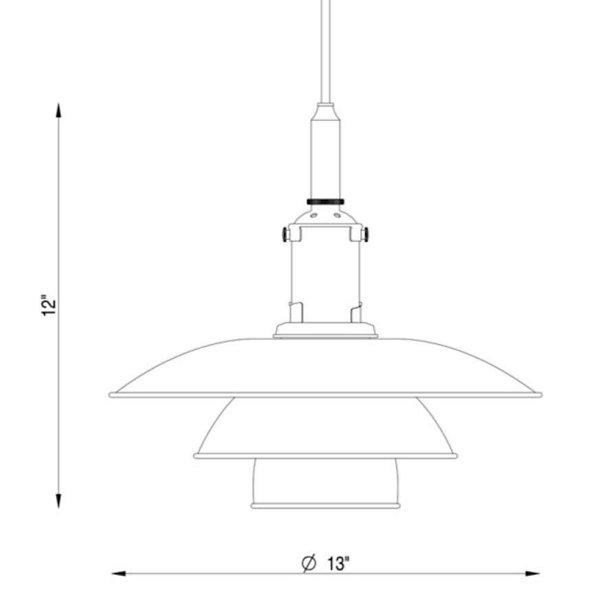 PH 3 ½ - 3 Pendant