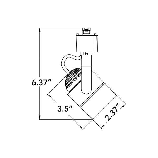 Brushed Nickel Meshback LED 3-Light Track Kit
