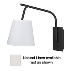 Walker Swingarm Sconce (Natural Linen) - OPEN BOX RETURN