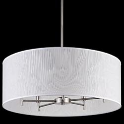 Walker 5-Arm Drum Chandelier (Clear Optical/Brushed Nickel) - OPEN BOX RETURN