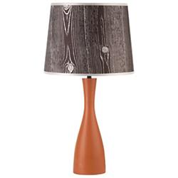 Oscar Table Lamp (Carrot/Faux Bois Dark) - OPEN BOX RETURN