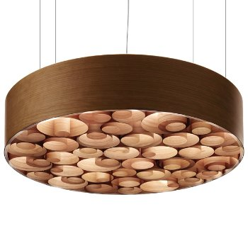 Spiro Solid Wood Pendant