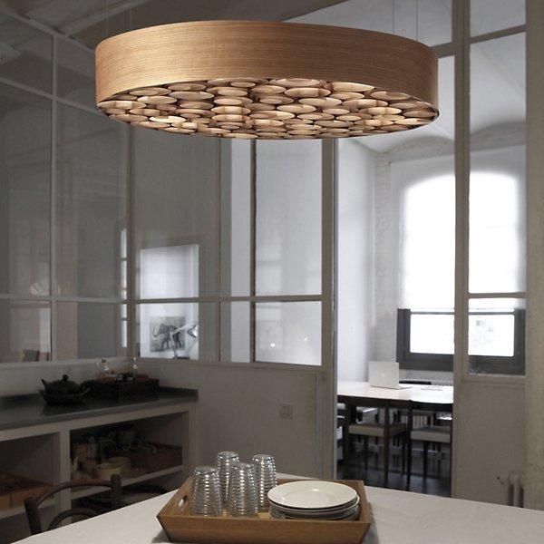 Spiro Solid Wood Pendant
