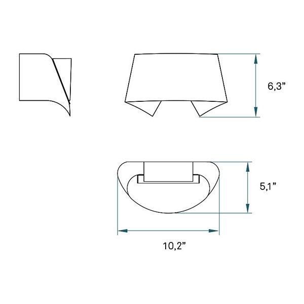 Hi-Collar LED Wall Sconce