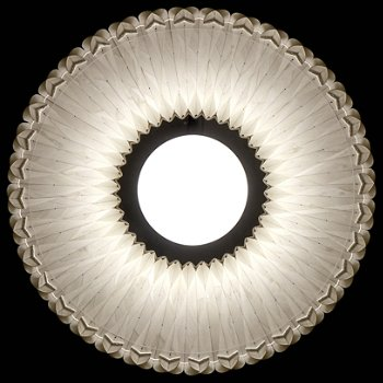 Shown in Ivory White shade, Bottom view