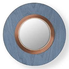 "Lens Circular LED Wall Sconce "" Blue"