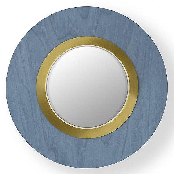 Lens Circular LED Wall Sconce – Blue