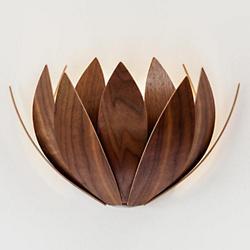 Lotus Wall Sconce (Walnut) - OPEN BOX
