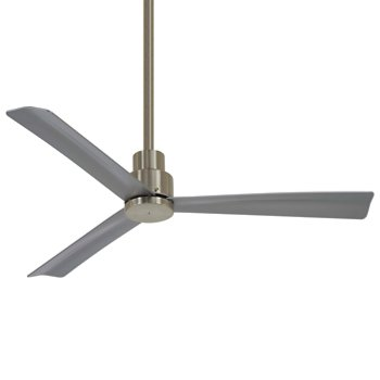 Shown in Brushed Nickel with Silver Fan Body and Blade Finish, 44 Inch