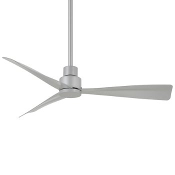 Shown in Silver Fan Body and Blade Finish, 44 Inch