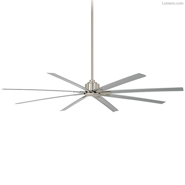 Brushed Nickel ceiling fan for high ceilings