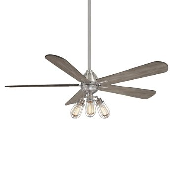 Shown in Brushed Nickel finish with Seashore Grey blades